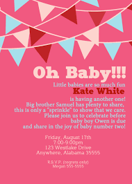 2nd baby shower 2nd baby shower invitations baby shower invitation wording ideas
