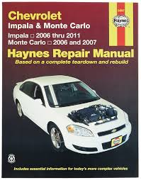 amazon com chevrolet impala 2006 2011 and monte carlo 2006