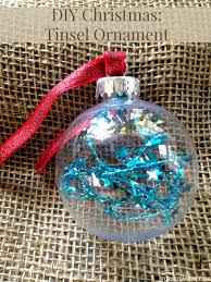 days of diy ornaments tinsel ornament diy