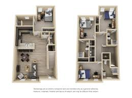 Townhome Floorplans by Floor Plans Deacon Place Apartments In Winston Salem Nc