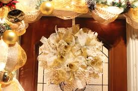 holiday deco mesh wreath home made luxe craft subscription box