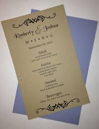 Wedding Menu Template Half Sheet Wedding Menu Template 1