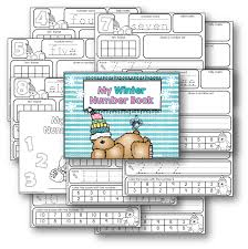 my winter number book teaching with nancy