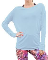 light blue top women s long sleeve open back top light blue cool jade 90210 women s