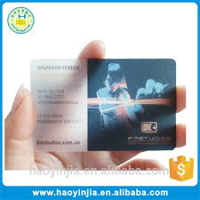 Translucent Plastic Business Cards Printable Laminated Blank Transparent Business Cards Buy Blank
