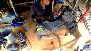 removing the power trim tilt unit from an outboard motor youtube