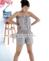 strapless denim jumpsuit buttons strapless denim jumpsuits shorts dinodirect com