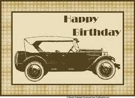vintage car for men u0027s birthday cards cup55244 571 craftsuprint