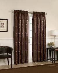 furniture brown with dot design curtain panels for contemporary