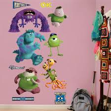 monsters university wall decal bedroom theme wall