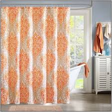 Orange And White Curtains Majestic Design Orange And White Curtains Window Home Ideas