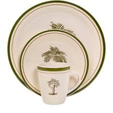 mainstays palm villa 16 dinnerware set multi color
