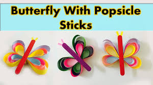 popsicle sticks butterfly craft diy paper butterfly craft for