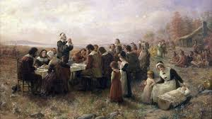 the pilgrims 1st thanksgiving meal included seal eagle