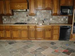 interior elegant travertine backsplash in kitchen