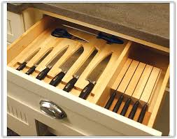 kitchen knife storage drawer home design ideas