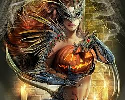 free wallpapers armored holding halloween pumpkin wallpaper