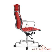 Leather Office Chair Red Leather Office Chair Good Furniture Net