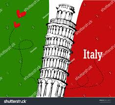 Flag Italy Drawn Flag Italy Flag Pencil And In Color Drawn Flag Italy Flag