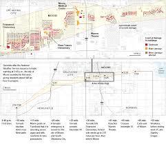 Map Oklahoma The Damage Along The Tornado U0027s Path In Oklahoma Map Nytimes Com