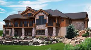 house plans with walkout basements mountain view plans for a hillside home with walk out lower