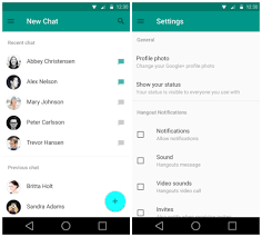 hangouts app android hangouts adds stickers and last seen timests android