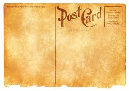 blank vintage postcard sepia grunge edition