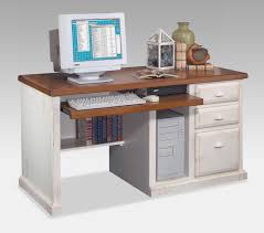 desktop computer desk computer desk with storage made of oak wood in white finished using