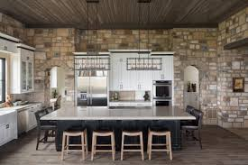 design beautiful kitchens with stone walls stone wall living