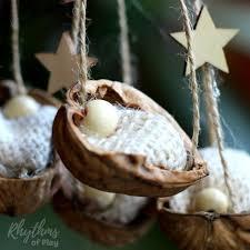 rustic walnut shell manger ornament rhythms of play