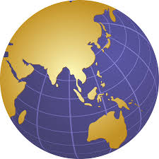 Asia On Map by Globe Asia Sldinfo