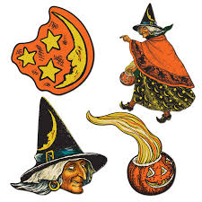 Vintage Halloween Decor 4 Retro Halloween Decorations Die Cut Cutouts Vintage Beistle 1933