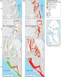 Seattle Earthquake Map by A Scenario Study Of Seismically Induced Landsliding In Seattle