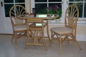 Dining Set 2 Chairs Furniture Awesome Mclean Rattan Glass Top Breakfast Oval