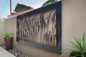 wall design ideas arrow luxurious large metal outdoor wall