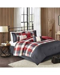 Madison Park Laurel Comforter Deal Alert Madison Park Pioneer 7 Piece Plaid Comforter Set Red