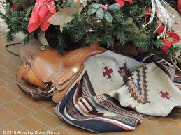 cowboy christmas decor and tiny house