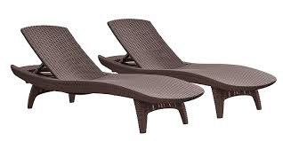 Members Mark Patio Furniture by Amazon Com Keter Pacific 2 Pack All Weather Adjustable Outdoor