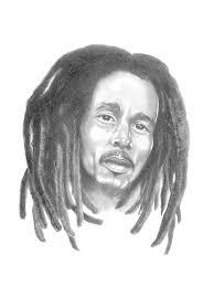 drawing of bob hair bob marley drawing by gordon van dusen