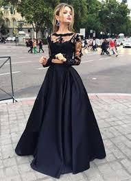 brautkleider mit spitze und ã rmel großhandel sleeves prom dresses schwarz zwei stück spitze top