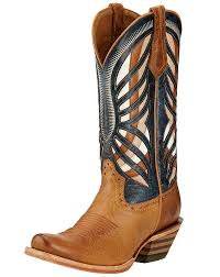 ariat womens cowboy boots size 12 ariat s 12 gentry narrow square toe boots honey estate blue