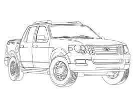 ford explorer sport trac coloring free printable coloring pages