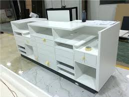 Counter Reception Desk Reception Desk Designs Custom White Reception Desk Design Front