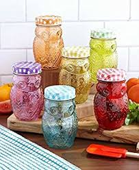 owl kitchen canisters style setter 206242 6gb owl colors jars with lids set