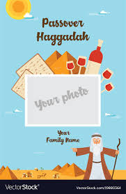 passover haggadah passover haggadah design template the story of vector image