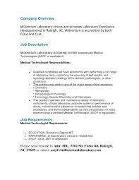 Environmental Technician Resume Sample Medical Technologist Resume Best Resume Templates