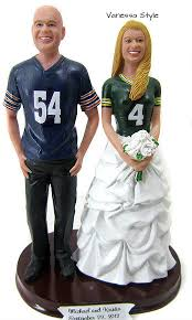football cake toppers custom football themed wedding cake topper