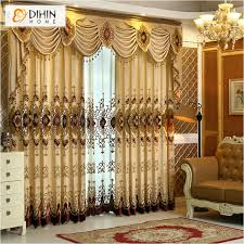 curtain valances for living room dihin home new arrival europen beaded curtain valance embroidery