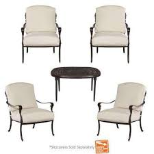 Patio Tables With Fire Pit Fire Pit Sets Outdoor Lounge Furniture The Home Depot