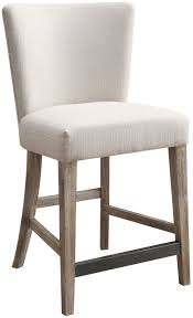 synchrony pearl upholstered gather barstool set of 2 from emerald